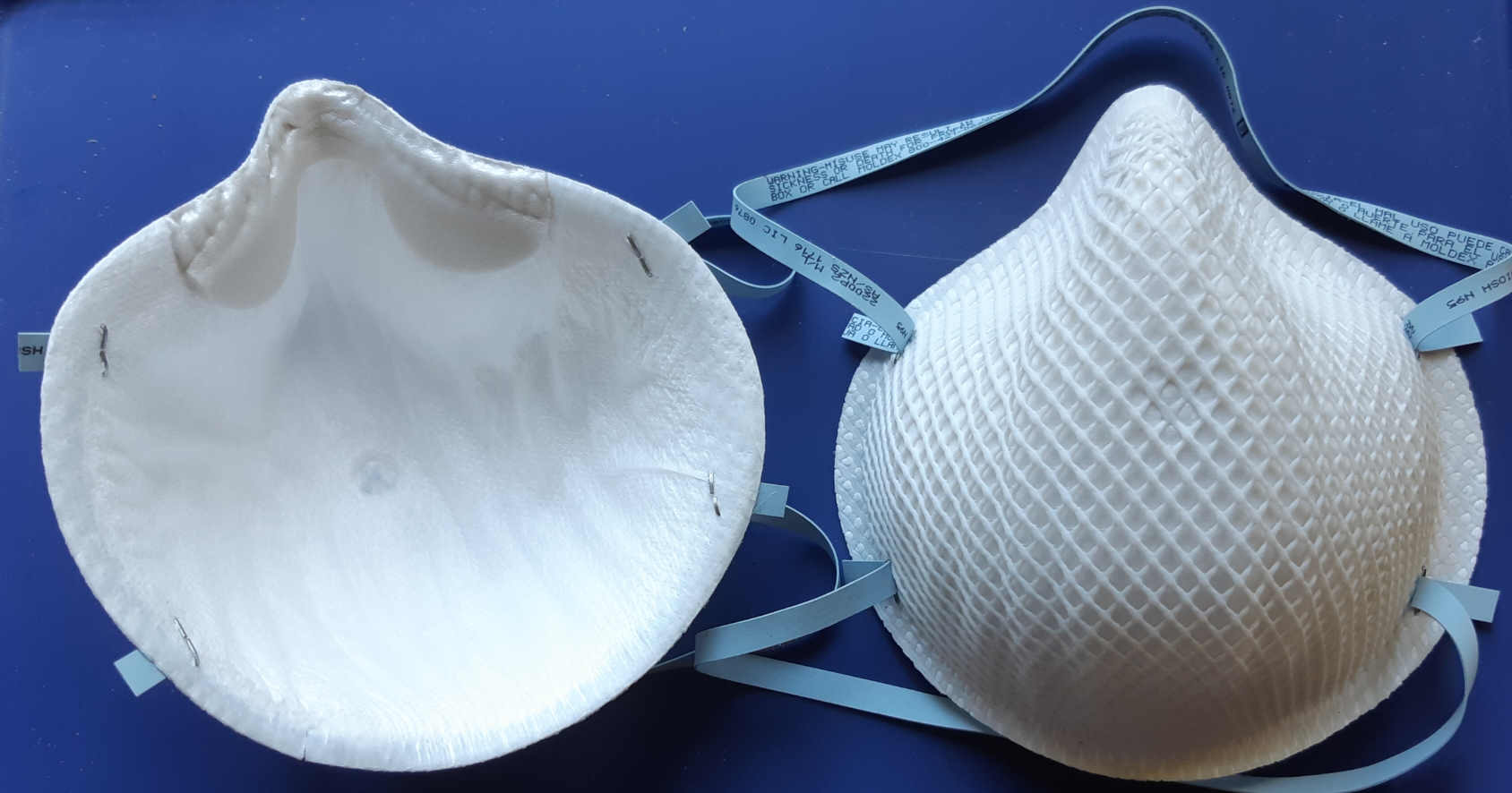 photo of two N95 face masks